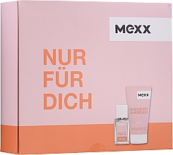 Fragrances, Perfumes, Cosmetics Mexx Whenever Wherever For Her - Set (edt/15ml + sh/gel/50ml)
