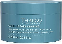 Fragrances, Perfumes, Cosmetics Regenerating Rich Body Cream - Thalgo Cold Cream Marine Deeply Nourishing Body Cream