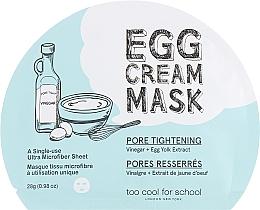 Fragrances, Perfumes, Cosmetics Egg Albumin Sheet Mask - Too Cool For School Egg Cream Mask Pore Tightening