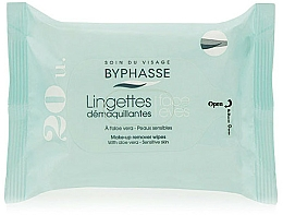 Fragrances, Perfumes, Cosmetics Makeup Remover Wipes, 20 pcs - Byphasse Aloe Vera Make-up Remover Wipes Sensitive Skin