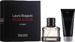Fragrances, Perfumes, Cosmetics Laura Biagiotti Romamor Uomo - Set (edt/40ml + sh/gel/100ml)