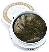 Fragrances, Perfumes, Cosmetics Hydrogel Eye Patches with Gold and Black Pearl - Petitfee & Koelf Black Pearl&Gold Hydrogel Eye Patch