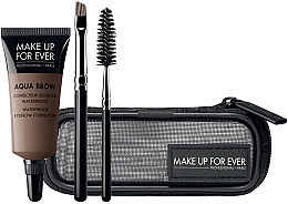 Fragrances, Perfumes, Cosmetics Set - Make Up For Ever Aqua Brow Eyebrow Corrector Kit (corrector/7ml+brush/2pcs+bag)