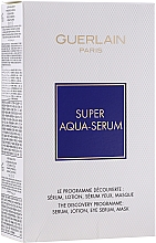 Fragrances, Perfumes, Cosmetics Set - Guerlain Super Aqua Serum Set (serum/50ml + eye/serum/5ml + mask/1pcs + lot/15ml)
