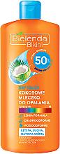 Fragrances, Perfumes, Cosmetics Coconut Sun Lotion SPF 50 - Bielenda Bikini Dry Touch Coconut Sun Lotion SPF 50