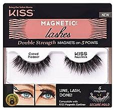 Fragrances, Perfumes, Cosmetics Magnetic Flase Lashes - Kiss Magnetic Lashes Double Strength KMEL 05 Crowd Pleaser