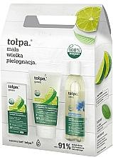 Fragrances, Perfumes, Cosmetics Set - Tolpa Green (micellar/200 ml + f/gel/150 ml + f/cr/ 50 ml)