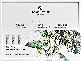 Fragrances, Perfumes, Cosmetics Set - Living Nature Skin Steps To Normal Nourish Skin (milk/50ml + gel/50ml + cr/50ml)