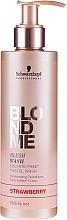 "Fragrances, Perfumes, Cosmetics Sulfate-Free Moisturizing Shampoo ""Strawberry"" - Schwarzkopf Professional Blond Me Blush Wash Strawberry"