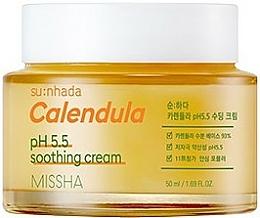 "Fragrances, Perfumes, Cosmetics Moisturizing Face Cream ""Calendula"" for Sensitive Skin - Missha Su:Nhada Calendula pH 5.5 Soothing Cream"