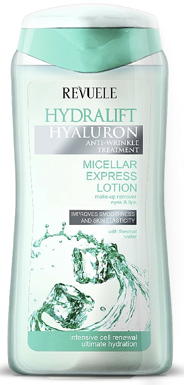 Micellar Makeup Removal Express Lotion - Revuele Hydralift Hyaluron Micellar Express Lotion