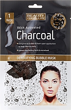 Fragrances, Perfumes, Cosmetics Face Mask - Beauty Formulas With Activated Charcoal Detoxifying Bubble Mask