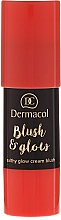Fragrances, Perfumes, Cosmetics Creamy Stick Blush - Dermacol Blush & Glow