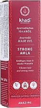 Fragrances, Perfumes, Cosmetics Hair Firming Oil - Khadi Ayuverdic Strong Amla Hair Oil