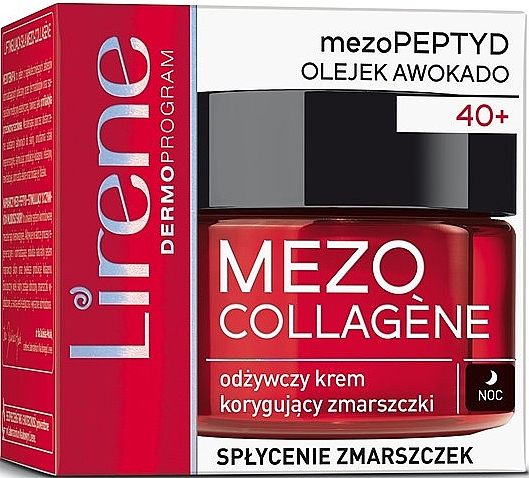 Anti-Wrinkle Night Face Cream - Lirene Mezo Collagene