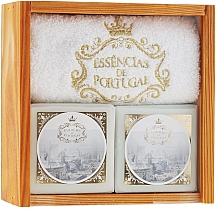 Fragrances, Perfumes, Cosmetics Set - Essencias De Portugal Senses Wooden Box (soap/2x200g + towel)