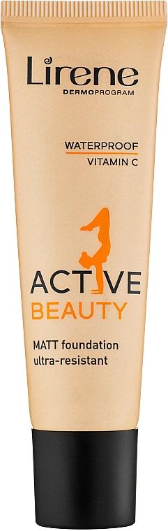 Foundation - Lirene Active Beauty Matt Foundation Ultra-Resistant