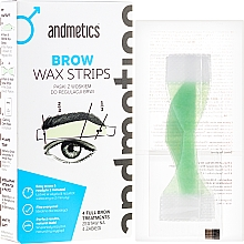 Fragrances, Perfumes, Cosmetics Set for Eyebrows Correction - Andmetics Brow Wax Strips Men (strips/4x2pc + strips/4x2pc + wipes/4pc)