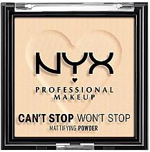Fragrances, Perfumes, Cosmetics Compact Mattifying Face Powder - NYX Professional Makeup Can't Stop Won't Stop Mattifying (01 -Fair)