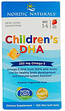 """Fragrances, Perfumes, Cosmetics Kids Food Supplement, strawberry 250 mg, Omega-3"""" - Nordic Naturals Children's DHA"""