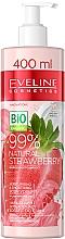 Fragrances, Perfumes, Cosmetics Moisturizing Smoothing Body Cream Yogurt - Eveline Cosmetics 99% Natural Strawberry