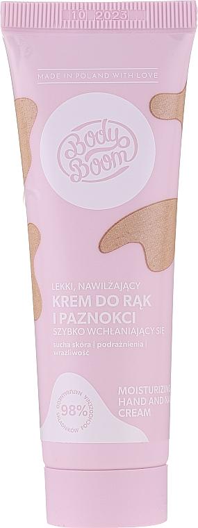Moisturizing Hand Cream - Bielenda Bodyboom Moisturizing Hand Cream