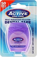 Fragrances, Perfumes, Cosmetics Extra Thin Mint & Fluorine Dental Floss - Beauty Formulas Active Oral Care Advanced Mint Waxed Fluor 50 m