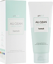 Fragrances, Perfumes, Cosmetics Cleansing Foam for Face - Heimish All Clean Green Foam pH 5.5