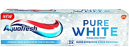 "Fragrances, Perfumes, Cosmetics Whitening Toothpaste ""Tingling Mint"" - Aquafresh Pure White Tingling Mint"