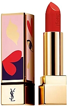 Fragrances, Perfumes, Cosmetics Satin Lipstick - Yves Saint Laurent Rouge Pur Couture Love Collector's Edition (114 -Dial R.E.D)