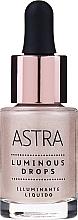 Liquid Highligher - Astra Make-Up Luminous Drops Liquid Lighting — photo N1