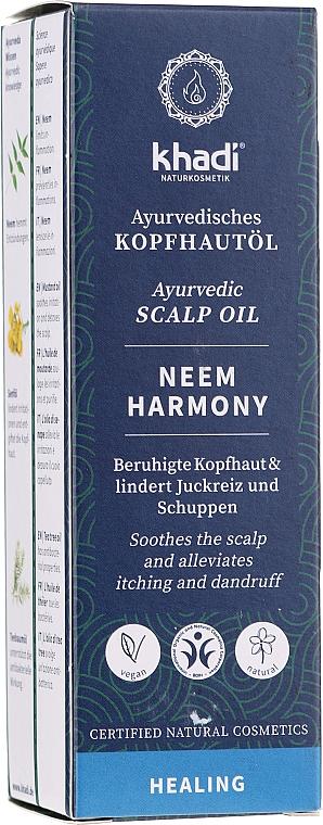 Ayurvedic Scalp Oil - Khadi Ayurvedic Scalp Oil Neem Harmony