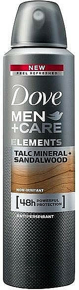 "Men Deodorant ""Talc and Sandalwood"" - Dove Men+Care Elements Talc Mineral+Sandalwood"