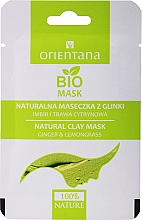 Fragrances, Perfumes, Cosmetics Ginger & Lemongrass Clay Mask for Combination Skin - Orientana (paper pack)