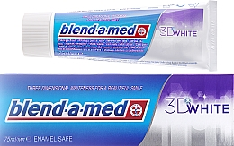 """Fragrances, Perfumes, Cosmetics Toothpaste """"Whitening"""" - Blend-a-med 3D White Toothpaste"""