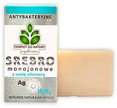 "Fragrances, Perfumes, Cosmetics Natural Soap ""Matt Silver & Hydrogen Peroxide"" - Powrot do Natury Natural Soap Matt Silver and Hydrogen Peroxide"