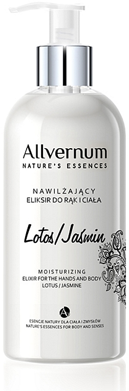 """Hand and Body Elixir """"Lotus and Jasmine"""" - Allverne Nature's Essences Elixir for Hands and Body"""