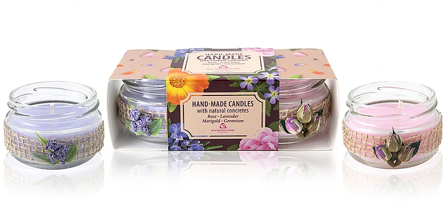 "Candle Set ""Aromatherapy"" - Bulgarian Rose Candle Set (2 pcs)"