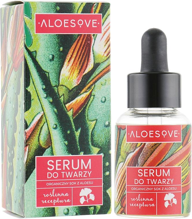Organic Aloe Juice Extract Face Serum - Aloesove