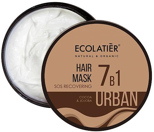 """Hair Mask """"SOS Recovering 7in1. Cocoa & Jojoba"""" - Ecolatier Urban Hair Mask"""
