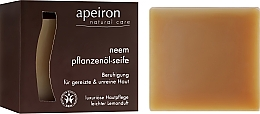 Fragrances, Perfumes, Cosmetics Natural Neem Soap for Problem Skin - Apeiron Neem Plant Oil Soap