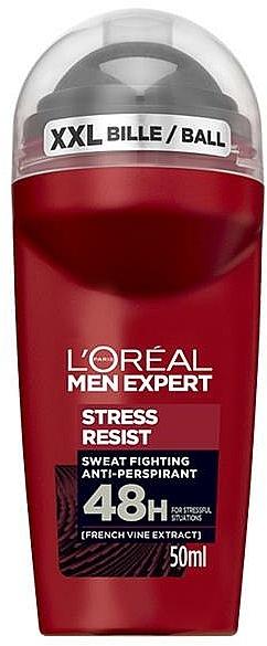 Roll-On Deodorant - L'Oreal Paris Men Expert Stress Resist 48H Anti-Perspirant Deo Roll-On