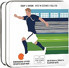 "Fragrances, Perfumes, Cosmetics Soap ""Football"" - Scottish Fine Soaps Football Sports Soap In A Tin"