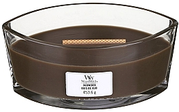 Fragrances, Perfumes, Cosmetics Scented Candle in Glass - Woodwick Hearthwick Flame Ellipse Candle Oudwood