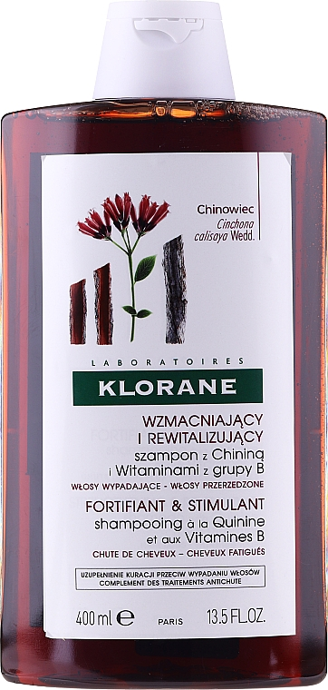 Strengthening Shampoo with Quinine and vitamins B - Klorane Shampoo with Quinine and B vitamins — photo N1