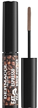 Fragrances, Perfumes, Cosmetics Brow Powder - Dermacol Eat Me Espresso Eyebrow Powder