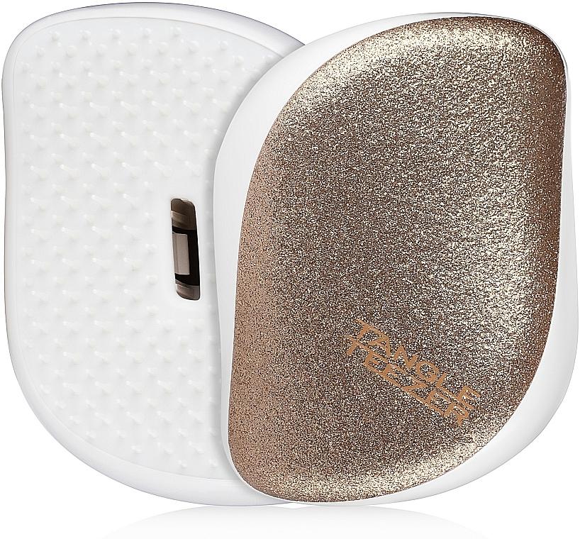 Compact Hair Brush - Tangle Teezer Compact Styler Glitter Gold