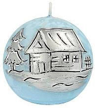 Fragrances, Perfumes, Cosmetics New Year's Blue Ball Decorative Candle, 10cm - Artman Christmas Frozen Blue