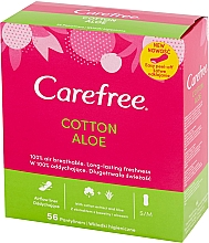 Fragrances, Perfumes, Cosmetics Hygienic Daily Pads with Aloe Extract, 56 pcs - Carefree Cotton Aloe