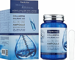 Fragrances, Perfumes, Cosmetics Collagen & Hyaluronic Acid Ampoule Serum - FarmStay Collagen & Hyaluronic Acid All-In-One Ampoule